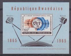 Rwanda 1965 UIT / Space M/s ** Mnh (27677) - 1962-69: Ongebruikt