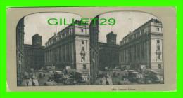 CARTES  STÉRÉOSCOPIQUES - THE CUSTOM HOUSE, NEW YORK CITY - ANIMATED  IN 1900 - - Cartes Stéréoscopiques