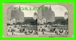 CARTES  STÉRÉOSCOPIQUES - FAMOUS BATTERY PARK WITH SOME OF NEW YORK'S TALL BUILDINGS - 1900 - - Cartes Stéréoscopiques