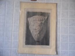 Disegno A Carboncino Particolare Colonna Firmato Rita Sandrinelli 1918 - Disegni