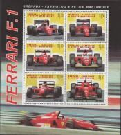 RO)1996 GRENADA, CAR RACING, FERRARI F.1, FOLD, MNH - Grenada (1974-...)