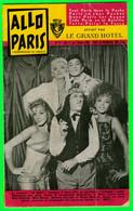 PROGRAMMES - ALLO PARIS, OCTOBRE 1958 - L'HEBDOMADAIRE DU PARISIEN OFFERT PAR LES GRAND HOTEL = - Programmes