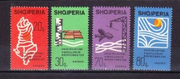Albania 1966 - 10 Years Of International Hydrology UNESKO UNESCO Organizations Celebrations Stamps MNH Michel 1079-1082 - UNESCO