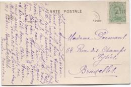 TP 137 Type 5 Annulé Par La Griffe De Jette En Fortune S/CP V. Bruxelles 60 € S/document  PR2923 - Postmark Collection