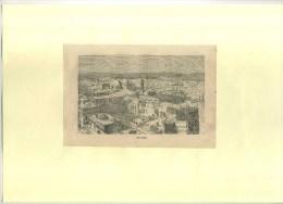 - JERUSALEM  . GRAVURE SUR BOIS DU XIXe S. DECOUPEE ET COLLEE SUR PAPIER . - Estampes & Gravures