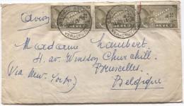 Mexico-Mexique Air Mail Cover Veracruz 29/4/1949 Via New York To Brusses Belgium PR2926 - Mexico