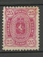 FINLAND FINNLAND 1879 Michel 17 B (Perf 12 1/2) (*) - 1856-1917 Administration Russe