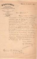 VP3578 - Tabac -  Lettre De Mr De SAUTTER Ingénieur Conseil à PARIS  Au Sujet De Brevets D'invention - Documents