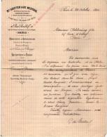 VP3579 - Tabac - Lettre De Mr MESTRAL Ingénieur Conseil à PARIS Pour Mr SCHOESING - Documents