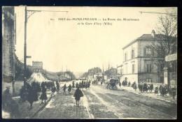 Cpa Du 92  Issy Les Moulineaux -- La Route Des Moulineaux Et La Gare D´ Issy  - Ville LIOB5 - Issy Les Moulineaux