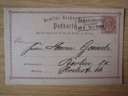 28.03.1874 GSK Mit STEMPEL Von BRANDENBURG BAHNHOF - Cartas