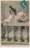 FEMMES - FRAU - LADY - SPECTACLE - ARTISTES - Jolie Carte Fantaisie Portrait Artiste PAULETTE DEL BAYE - Femmes
