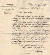 VP3582 - Tabac - Lettre De Mr  A. FRAYSSE Agent Spécial Des Manufactures De L´Etat Pour Mr SCHOESING à PARIS - Documenti