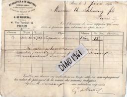 VP3583 - Tabac - Lettre De Mr MESTRAL Ingénieur Conseil  Pour Mr SCHOESING à PARIS - Documents