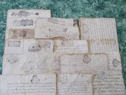 FISCAL FISCAUX Gros LOT GENERALITE BORDEAUX 1689 1781 XVIIe XVIIIe DORDOGNE Le Bugue Sarlat Saint Sulpice Fleur Lys Roi - Fiscale Zegels