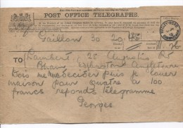 Great Britain Post Office Telegraphs Sent From Hagley Road Birmingham 31/7/1915 PR2932 - 1902-1951 (Könige)