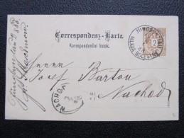 GANZSACHE Jungbunzlau Mlada Boleslav - Nachod 1888   /// D*19780 - Briefe U. Dokumente