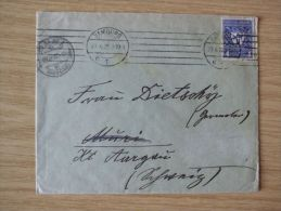 27.04.1922, AUSLANDS-BELEG Von HAMBURG Mit Nr. 202 (GEWERBESCHAU) Nach MURI (AARGAU), Schweiz - Cartas