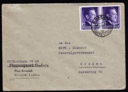 A3837) Generalgouvernement Brief Von Krasnik 12.11.43 Mit Seltenem Absender - 1939-44: 2. WK