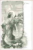 M3570 COMMEMMORATIVA ESPOSIZIONE DONNE ILLUSTRI ITALIA 1901 VIAGGIATA - Sindacati