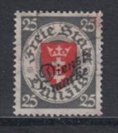 (02950) Danzig Dienstmarke 46 Aa Gestempelt Geprüft - Danzig