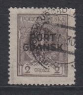 (03002) Danzig Port Gdansk 2 B Gestempelt Geprüft - Danzig