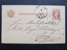 GANZSACHE Weissgärber Wien - Prag 1880 /// D*19788 - 1850-1918 Imperium