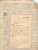 VP3586 - Tabac - Lettre + Note De Renseignements à L'intention De Mr GREEN De LIVERPOOL - Mr SCHOESING à PARIS - Dokumente