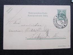 GANZSACHE Rozmital 1908 - Zabreh   /// D*19791 - 1850-1918 Imperium