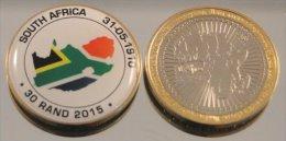 Afrique  DuSud 30 Rand 2015 Bimetal Couleurs Drapeau - Afrique Du Sud