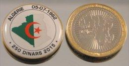 Algerie 250 Dinars 2015 Bimetal Couleurs Drapeau - Algérie