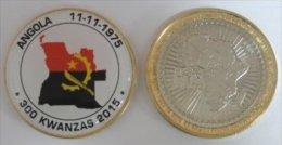 Angola 300 Kwanzas 2015 Bimetal Couleurs Drapeau - Angola