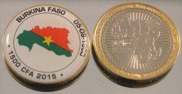 Burkina Faso 2015 Bimetal Couleurs Drapeau - Burkina Faso