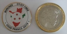 Burundi 4500 Fancs 2015 Bimetal Couleurs Drapeau - Burundi
