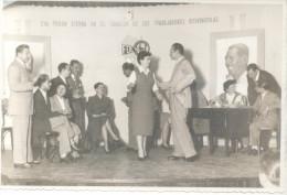 FOEVA - FEDERACION DE OBREROS Y EMPLEADOS VITITINICOLAS AÑO 1947 SINDICATO FOTOGRAFIA TRES BON ETAT RARE PERONISMO