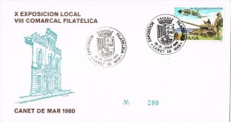 17267. Carta Exposicion CANET De MAR (Barcelona) 1986. Exposicion Local Ayuntamiento - 1931-Oggi: 2. Rep. - ... Juan Carlos I