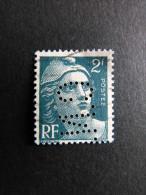 FRANCE C N° 713 Marianne De Gandon C.N. 304 Perforé Perforés Perfins Perfin - Frankreich