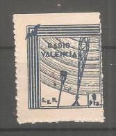 Viñeta De Radio Valencia - Viñetas De La Guerra Civil