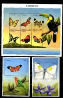 TANZANIA, 1999, BUTTERFLIES, S/S+2M/S, MNH** - Papillons