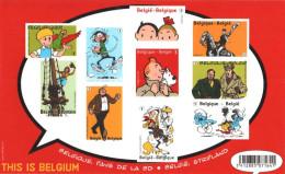 BELGIQUE 4238 à 4247 Imperf This Is Belgium : Tintin Kuifje Hergé Blake Mortimer Scxhtroupf Bob Bobette Lucky Luke - Bandes Dessinées
