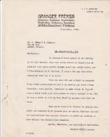Lettre 3/11/1934 GRANGER Frères Libraires Papetiers 54 Notre Dame Ouest MONTREAL Canada - Canada