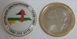 République Centrafricaine 1500 CFA 2015 Bimetal Couleurs Drapeau - Centrafricaine (République)