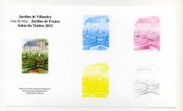 Philaposte 2012 Jardins De Villandry - Documents De La Poste