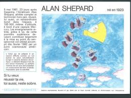 "Buvard "" SECURITE SOBRIETE ""  Alan Shépard - Si Tu Veux Réussir Ta Vie, Toi Aussi, Reste Sobre - Buvards, Protège-cahiers Illustrés"