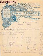 CHERCHELL MARC ROMAIN ANTIQUITES ROMAINES BIJOUTERIE ORFEVRERIE MONTRE HORLOGERIE ALGERIE - Facturas & Documentos Mercantiles