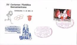 17275. Carta Exposicion  BARCELONA 1991. Certamen Filatelico Iberoamericano - 1931-Hoy: 2ª República - ... Juan Carlos I