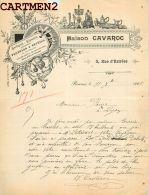 RENNES 5 RUE D'ESTREES MAISON CAVAROC HORLOGERIE BIJOUTERIE OR PENDULES REVEILS BRETAGNE - 1900 – 1949