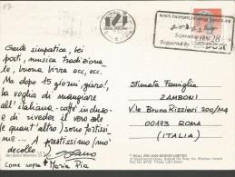 SPE57--- STORIA POSTALE,  EIRE,  IRLANDA--- ROMA,  ITALIA, - 1949-... Repubblica D'Irlanda