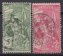 SUISSE 1900 2 TP 25 ème Anniversaire De L'UPU N° 86 à 87 Y&T Oblitéré - Oblitérés