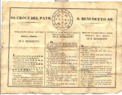 CERTIFICATO DELLA SS. CROCE S.BENEDETTO - Religione & Esoterismo